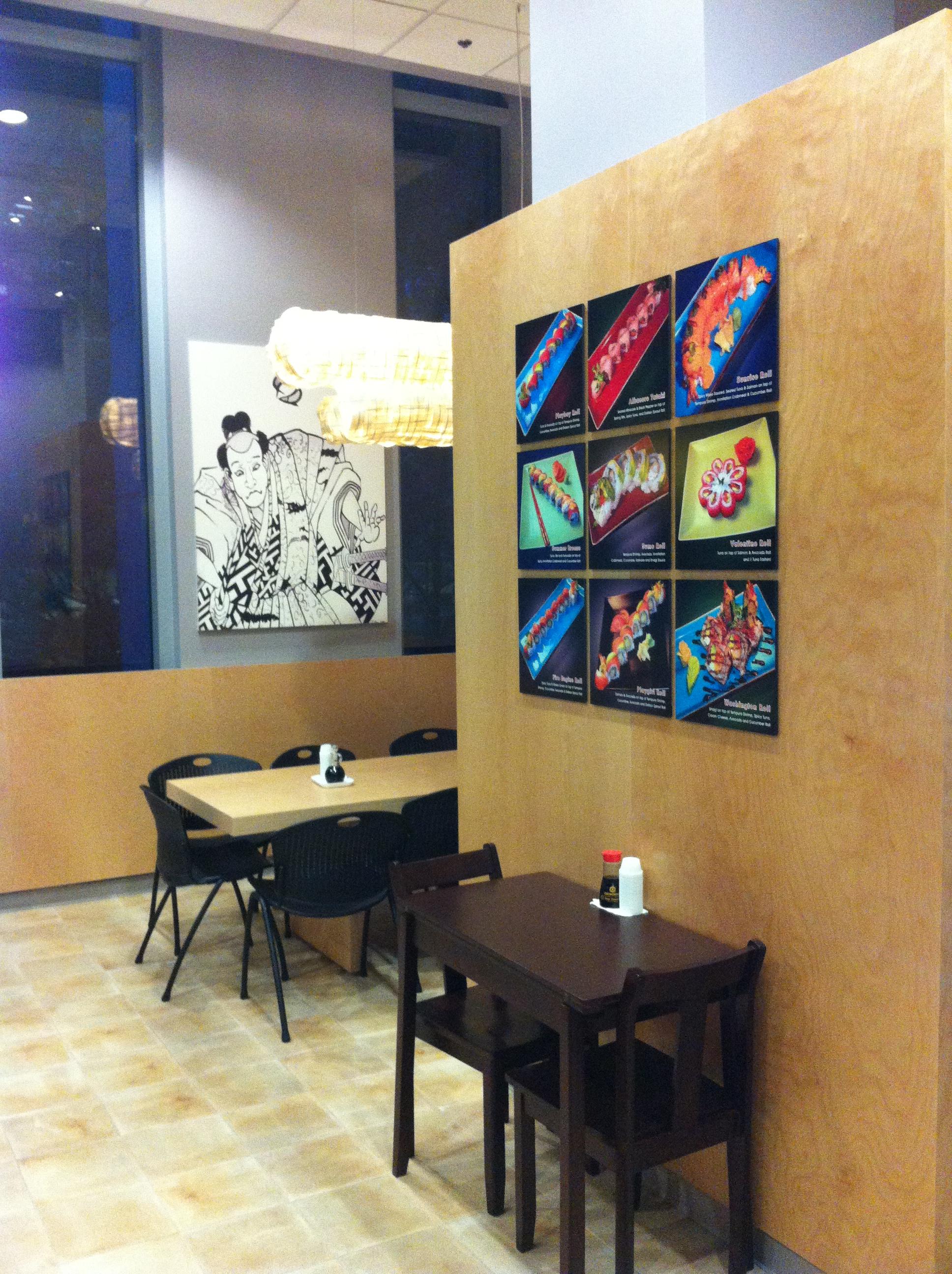 Sushi Kudasai Dining Area Interior