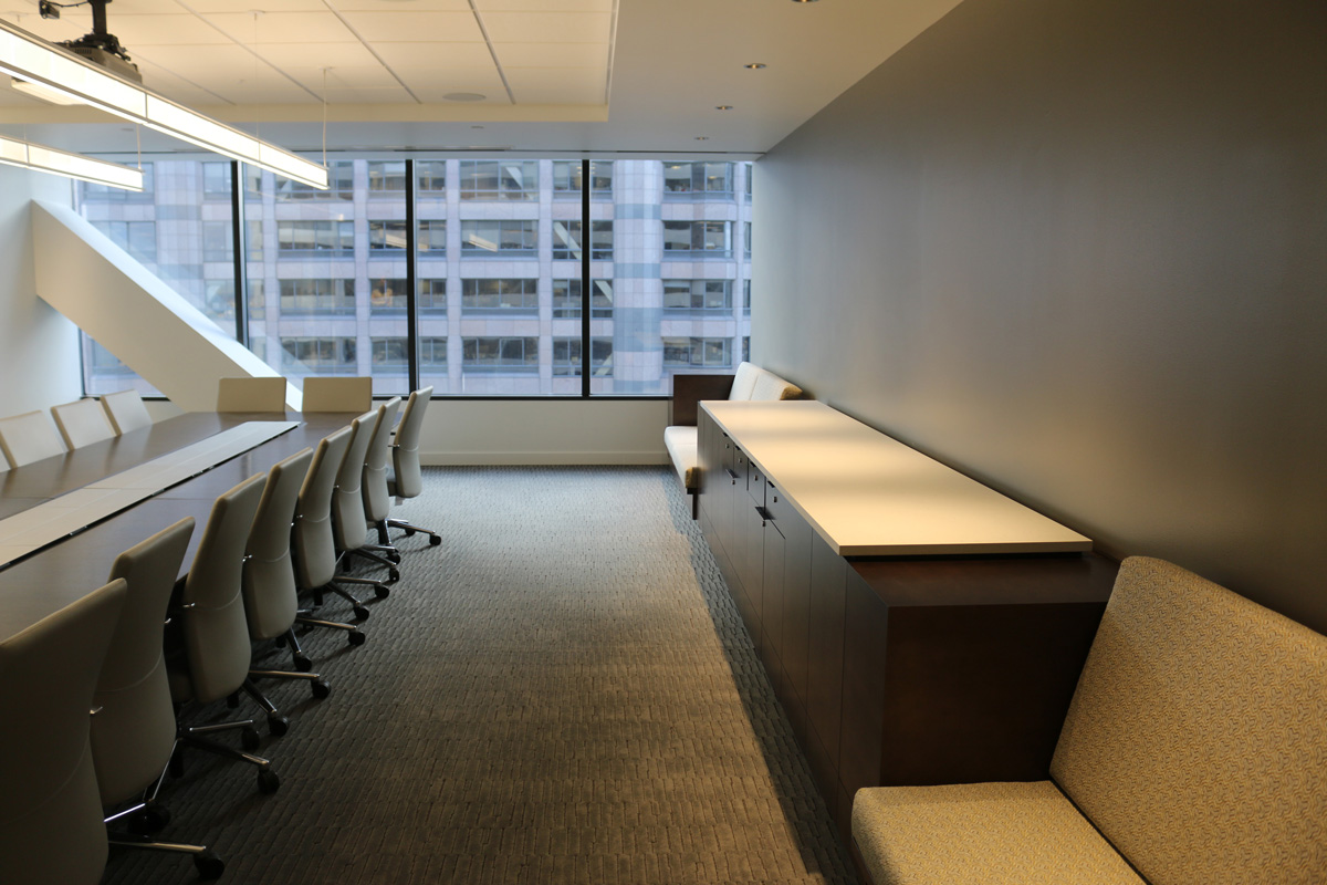 Conference room casework and seating