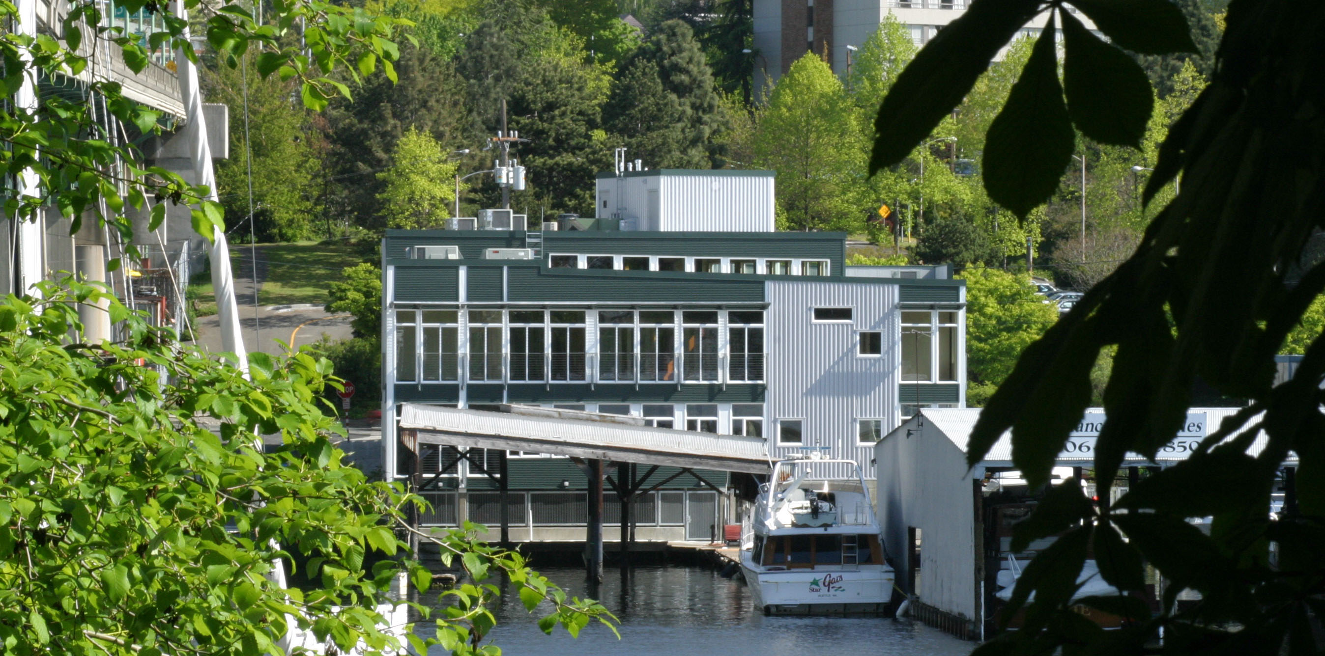 Boat Street Landing building exterior waterfront view