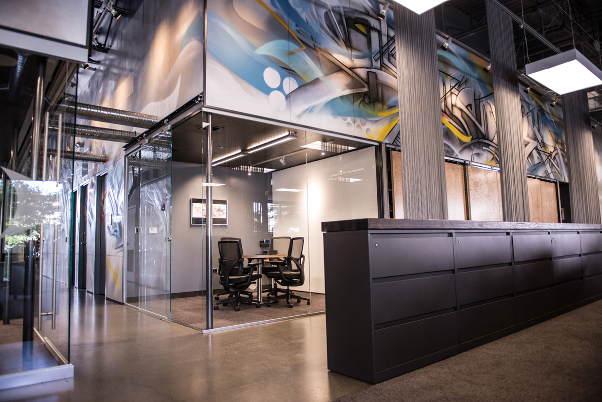 Digital Controls Inc. Office interior and conference room