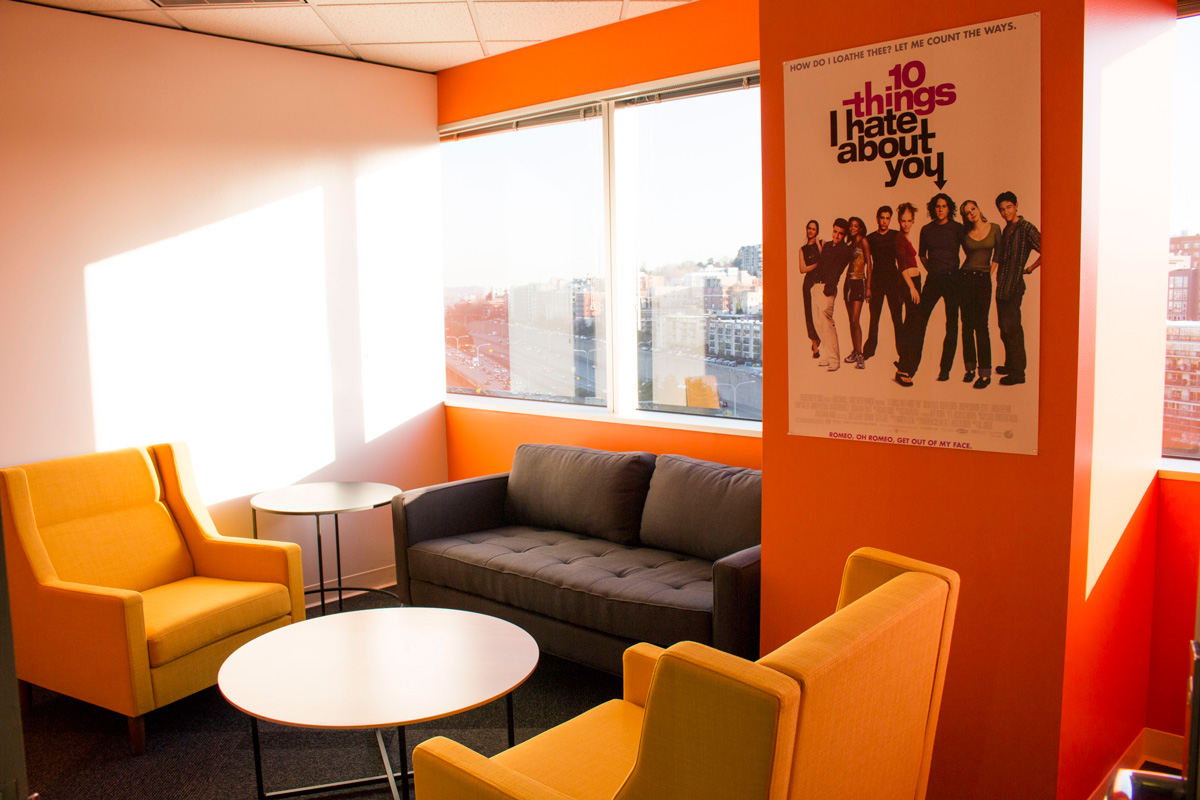 Facebook Metropolitan Park lounge