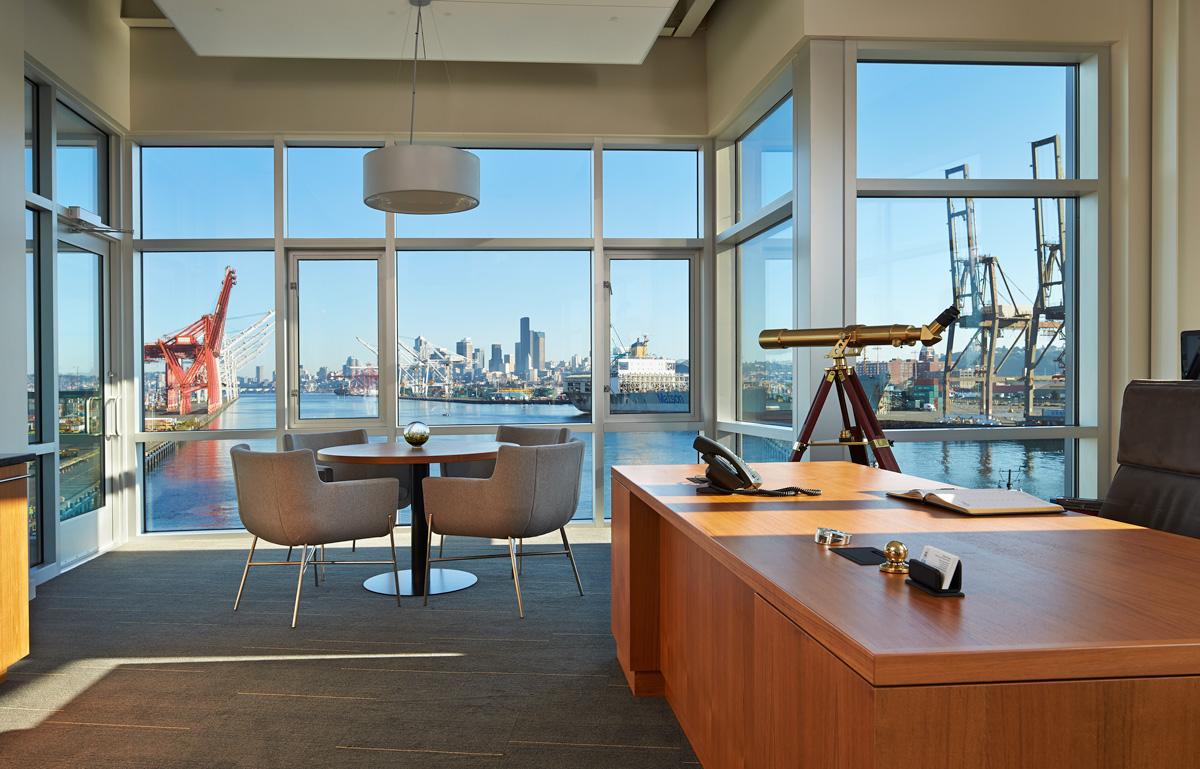 Harley and Lela Franco Maritime Center Office Interior