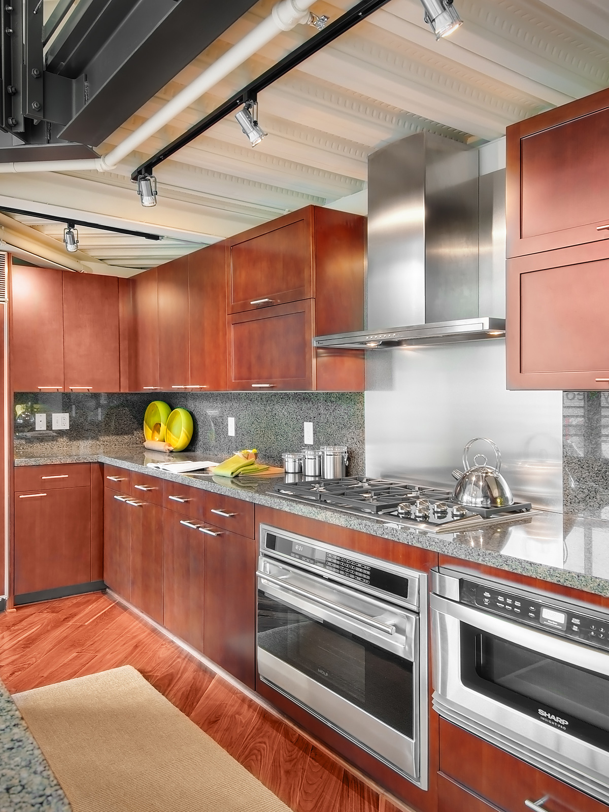 Madison Lofts building kitchen interior