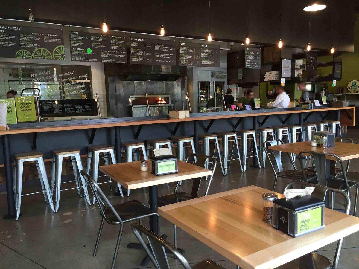 Nake Pizza in Kent bar seating and menus
