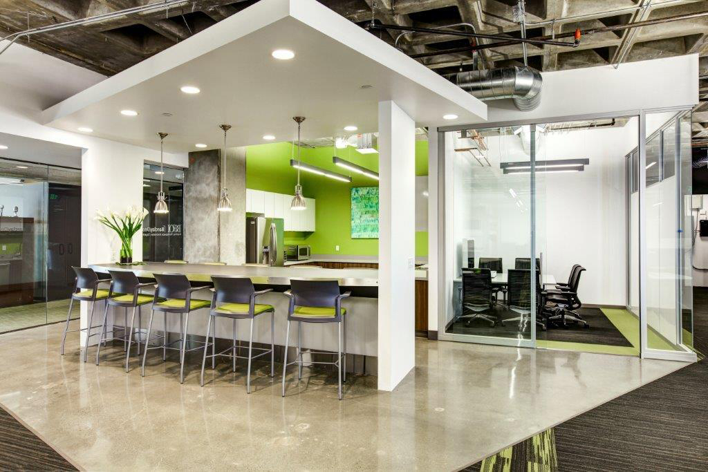 Open Square offices kitchen and dining