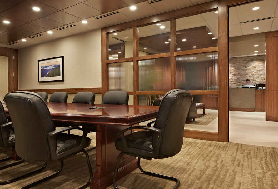 Private Bank Seattle conference room and table