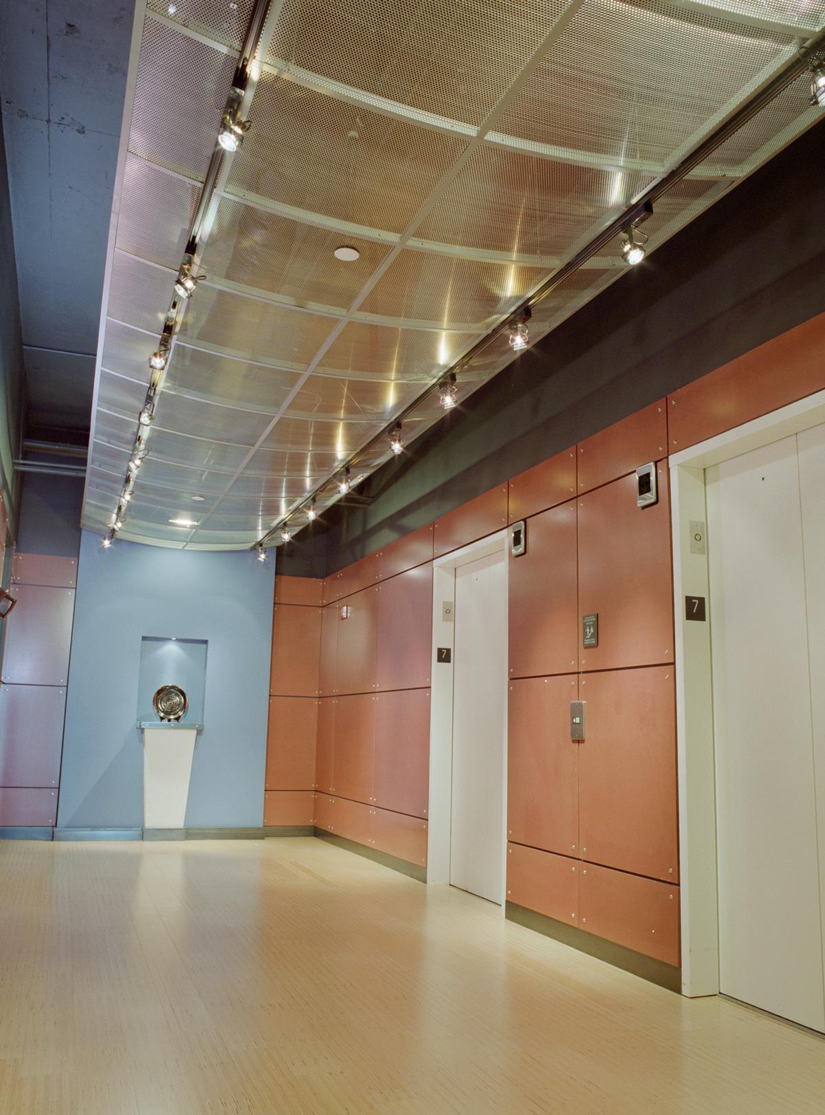 Publicis Seattle interior elevator lobby