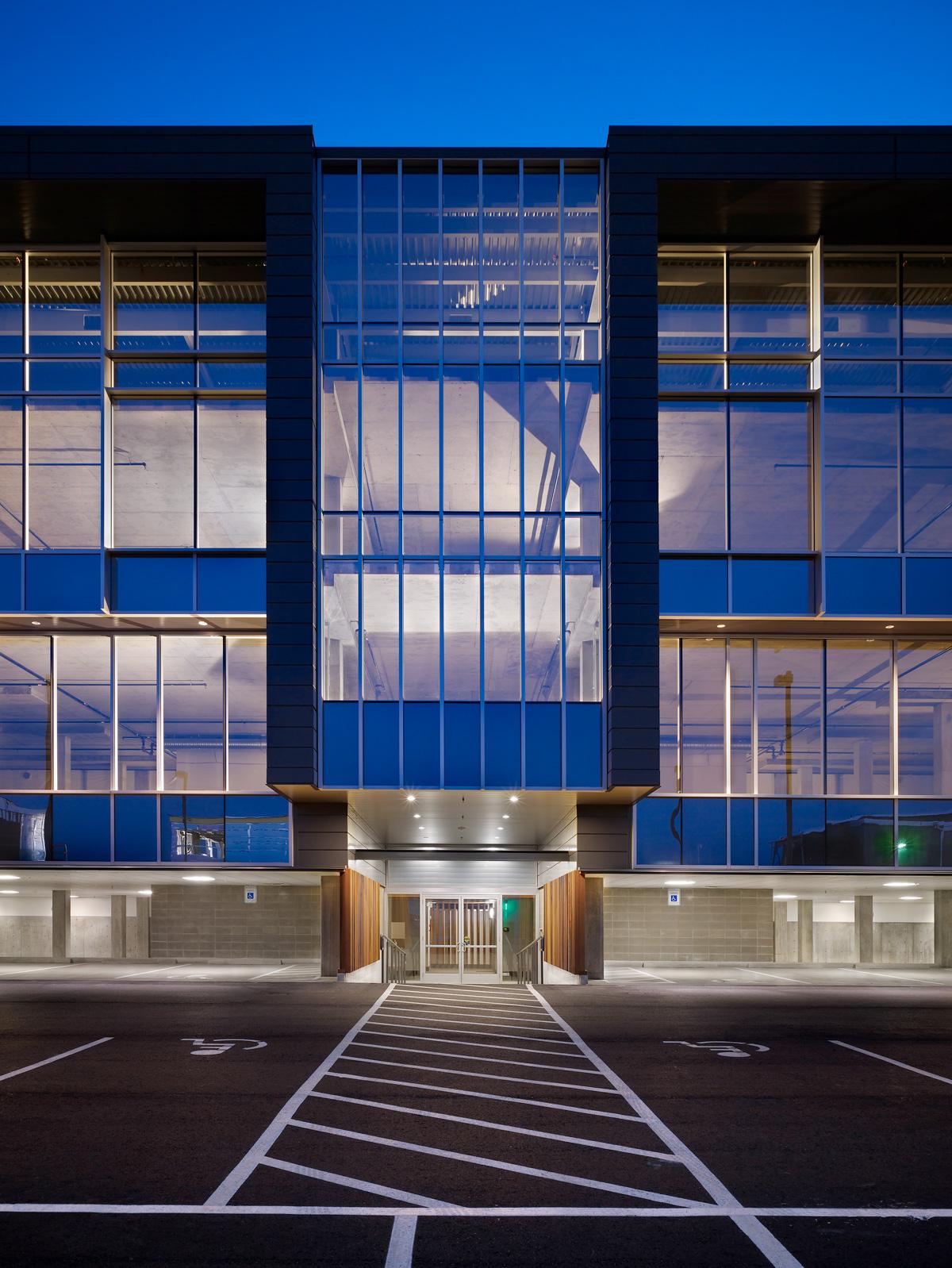 Salmon Bay Landing building exterior building, front doors