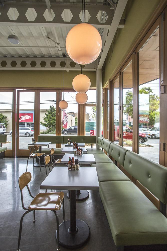 Skillet Diner resturant booth seating