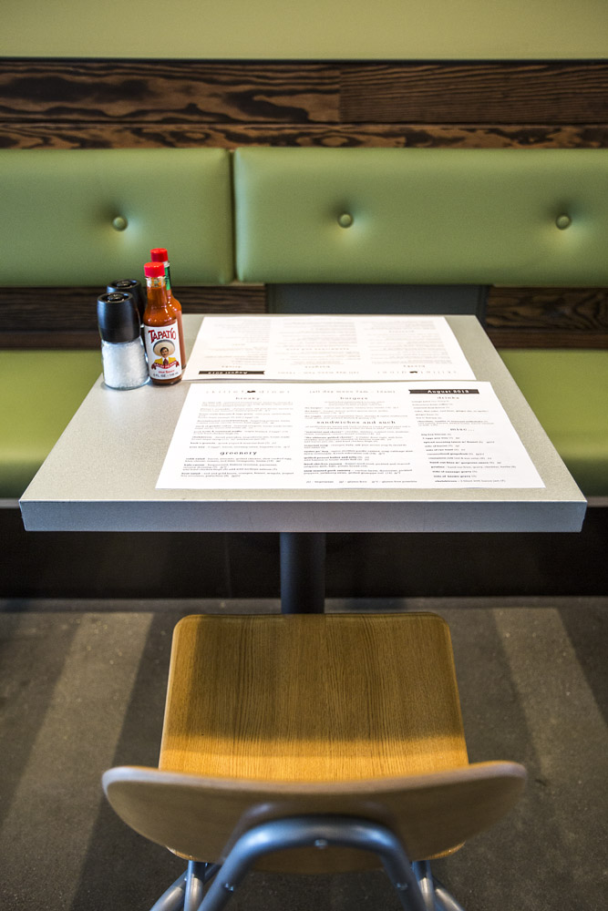 Skillet Diner table with menu