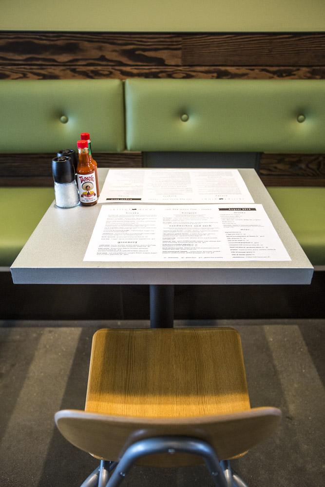 Skillet Diner table with menu