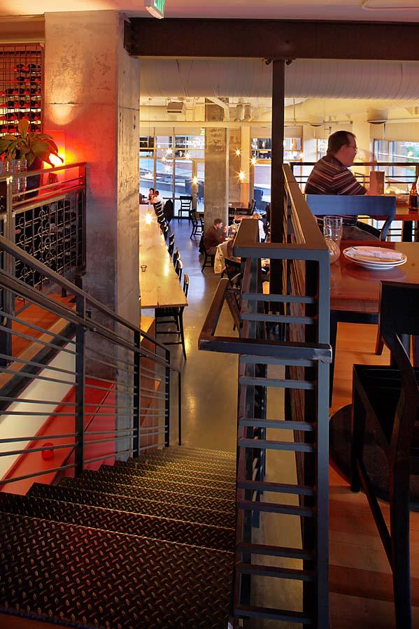 Tutta Bella Pizzeria restaurant interior staircase