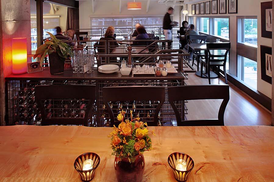 Tutta Bella Pizzeria restaurant, upstairs dining, wine storage