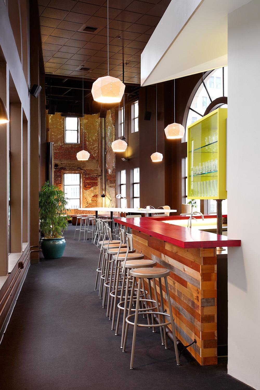 Zaaz bar, reclaimed wood