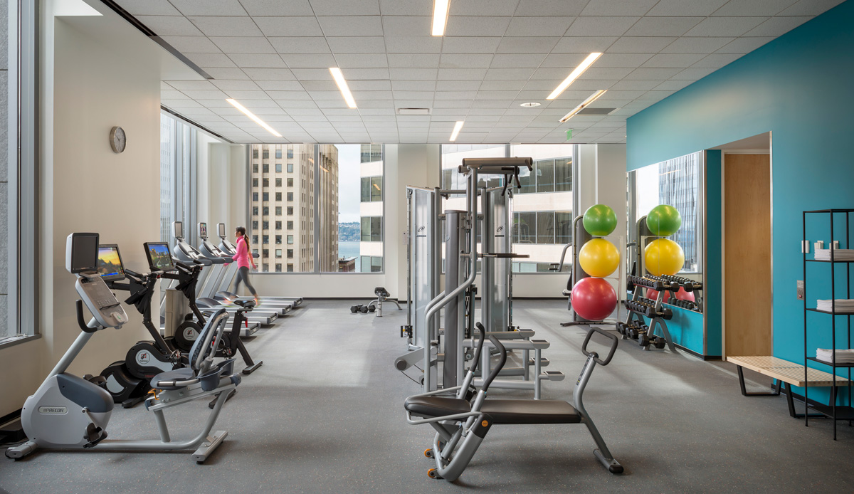 Hines PMO Seattle office workout space