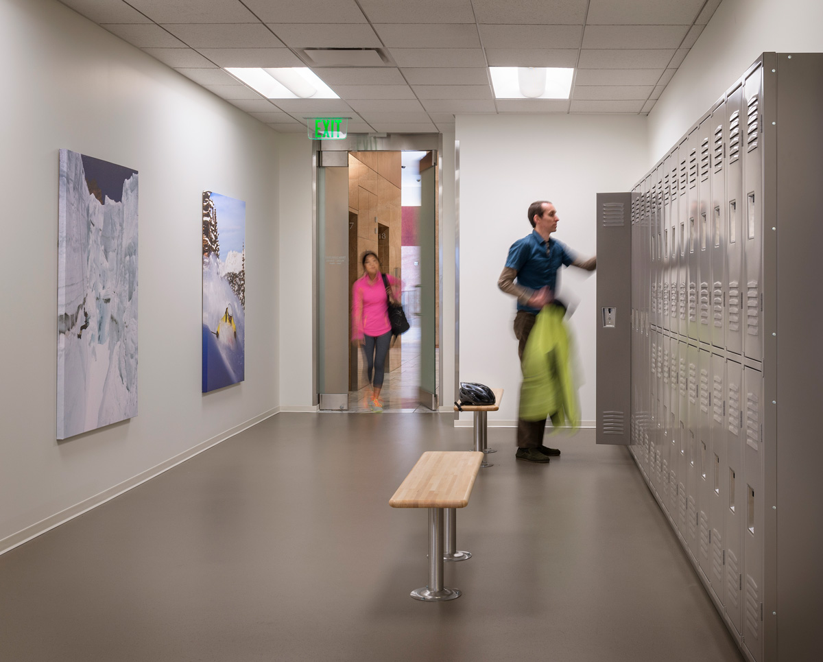 Hines PMO Seattle office locker room