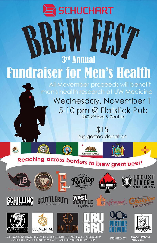 Movember Brew Fest Flier 2017