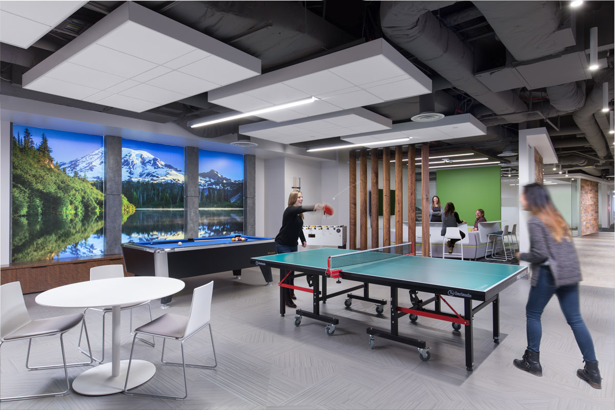 Office entertainment and collaboration space