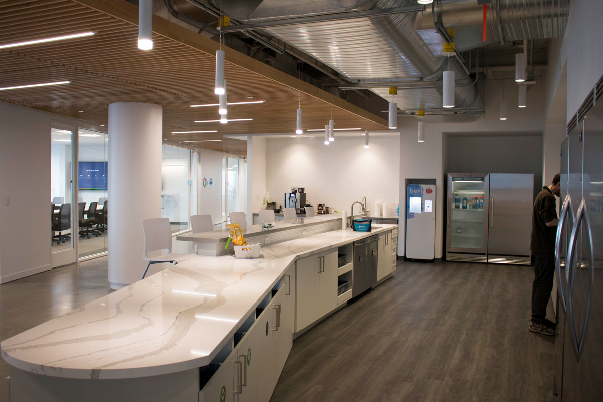 Kitchen and conference space