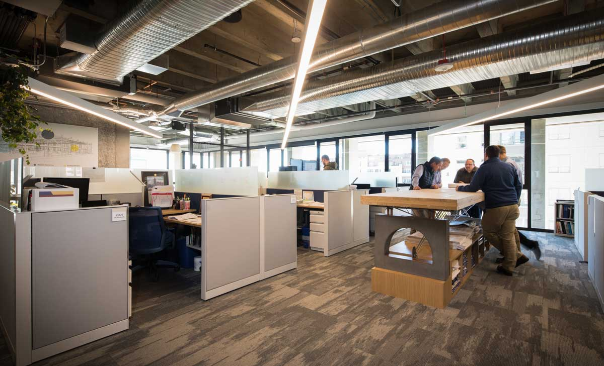 Office work and collaboration spaces