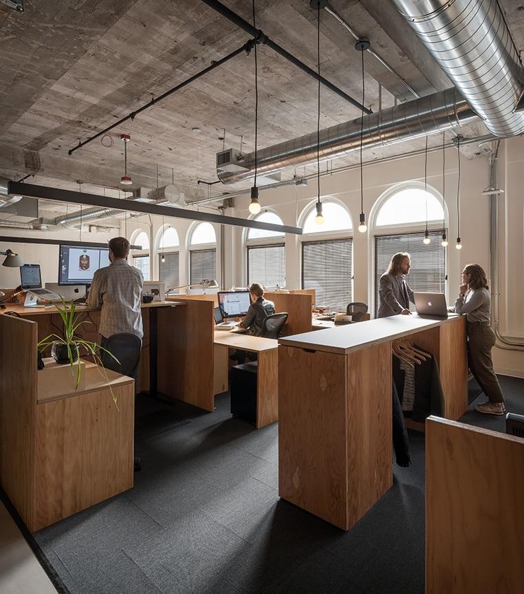 Open office work space
